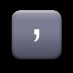 118421-matte-grey-square-icon-alphanumeric-comma